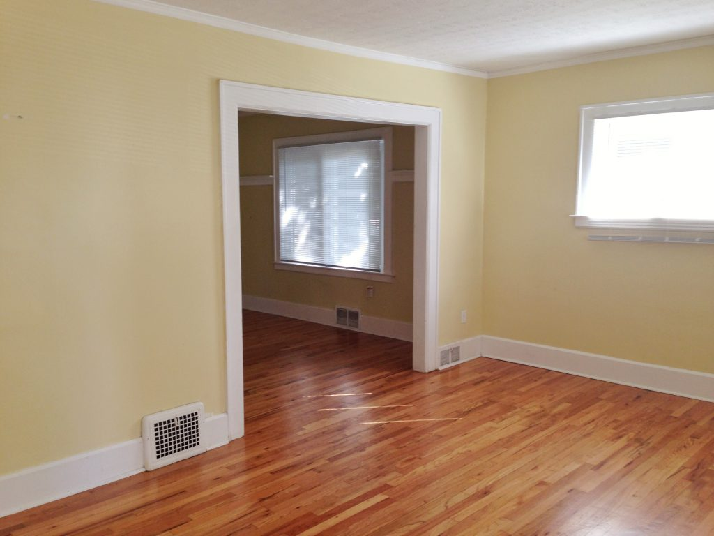 Before Look at the Living Room at 874 West
