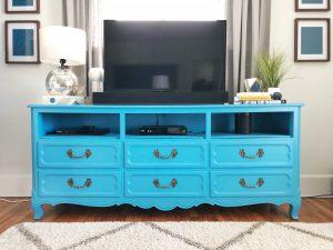 Dresser Turned TV Stand DIY