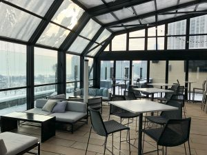 Retractable Glass Rooftop at The J. Parker, Chicago, Illinois